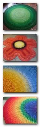 коллаж - образцы ковриков