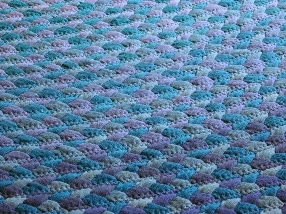 коврик в голубых оттенках