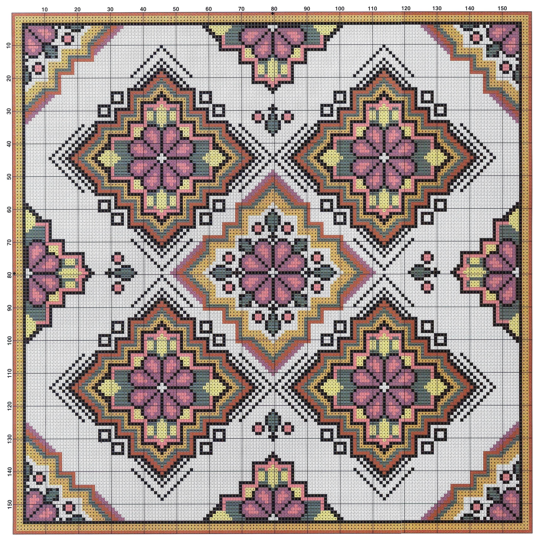 Схемы для вышивки крестом подушечек