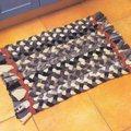 коврик из косичек