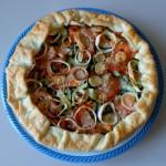 Открытый овощной пирог