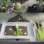 серый конвертик с зеленым бантиком