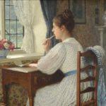 Jane Austen sta scrivendo una lettera alla sorella.